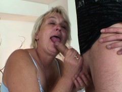Hot threesome with very old...