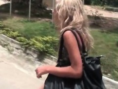 Sexy blonde babe gets horny...
