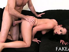 Hot cowgirl riding with...